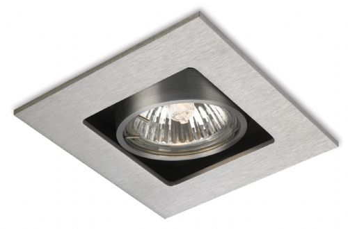 Firstlight 1500BS Brushed Steel Cube 1 Light Downlight